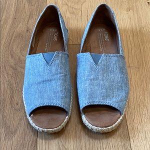 TOMS Alpargata Open Toe Shoes
